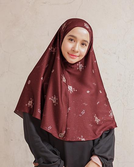 HijabDirumahAja-Motif Garnet
