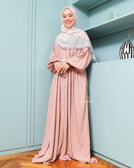 ATIYA DRESS DUSTY PINK